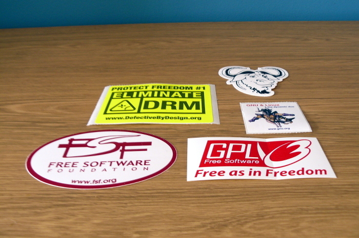 GNU and FSF stickers